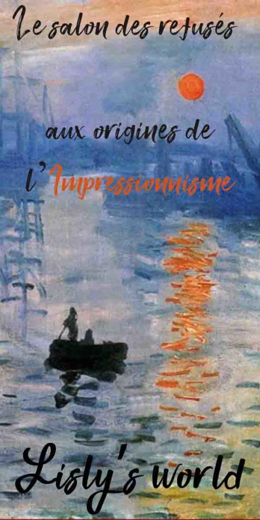 Le salon des refusés aux origines de l'Impressionnisme