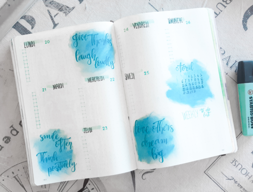 Une weekly wiew step by step