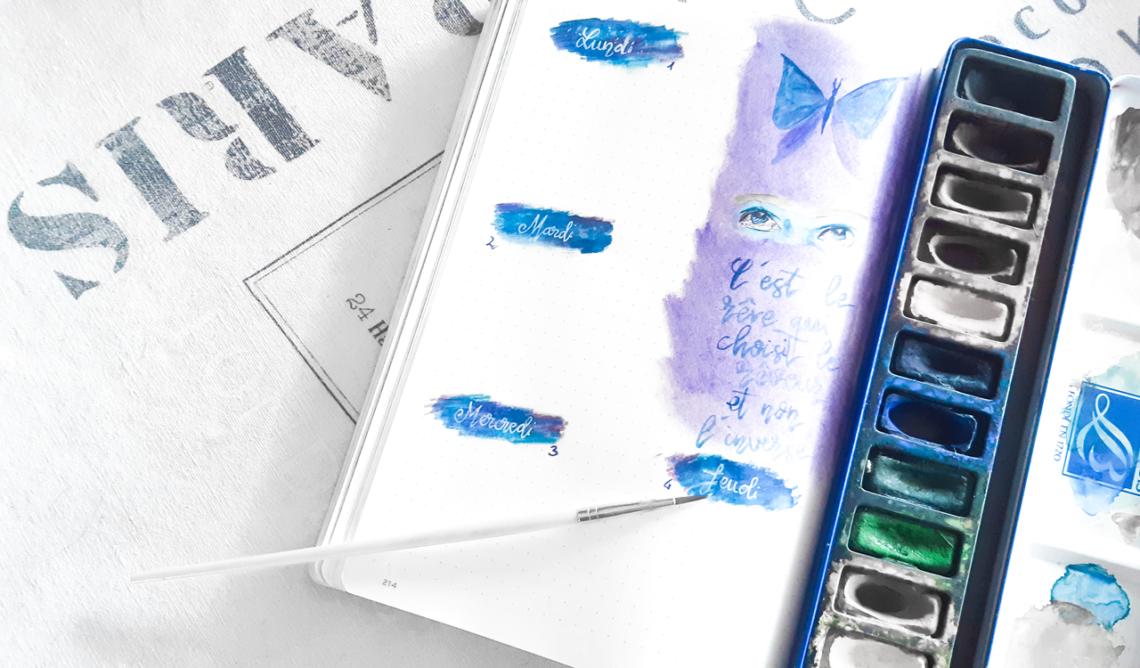 20 idées de mises en page avec de l'aquarelle