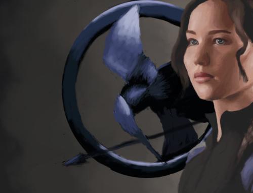 Portrait de Katniss Everdeen, personnage principal du roman et des films Hunger Games