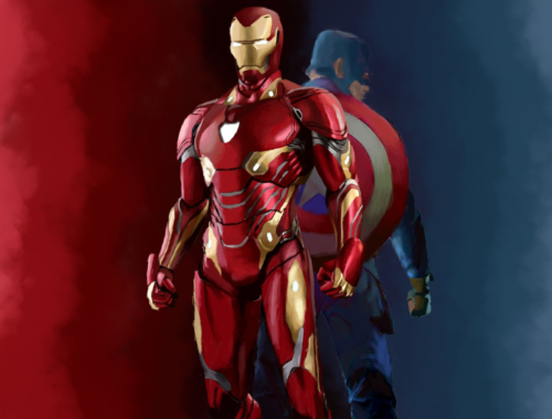 Iron Man and Captain America from Marvel Cinematic Universe