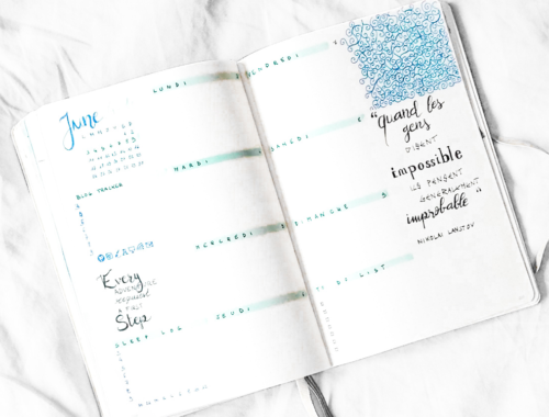 Une page de la semaine parfaite pour votre Bullet Journal !