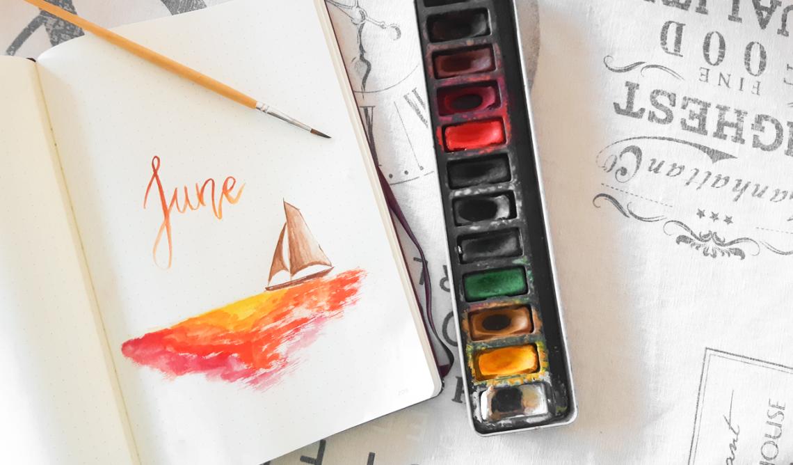 Comment utiliser l'aquarelle dans son Bullet Journal