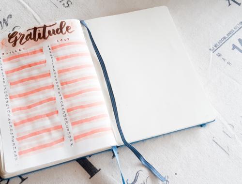 Bullet Journal with me : un gratitude log pas à pas